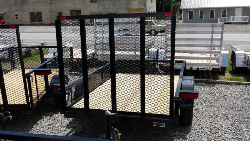 2020 Holmes 5x8 Open Side Rail Utility Trailer