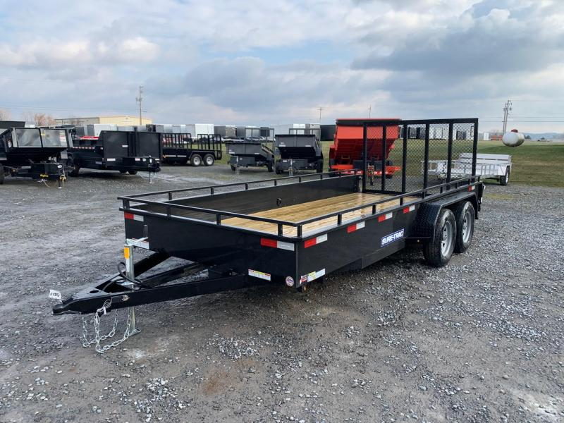 2020 Sure-Trac Solid Side 6'10x16 7K Utility Trailer