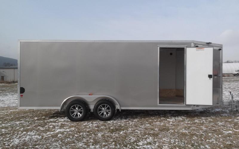 2018 Mission EZES 7x18+4 Enclosed Snowmobile Trailer