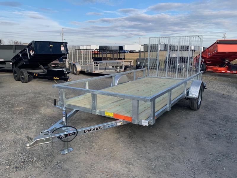 2020 Load Rite 6.5x14 3K Galvanized Utility Trailer