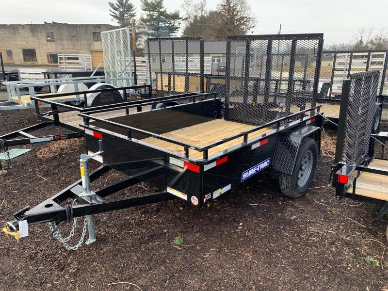 2020 Sure-Trac Steel High Side 5x8 3K Utility Trailer