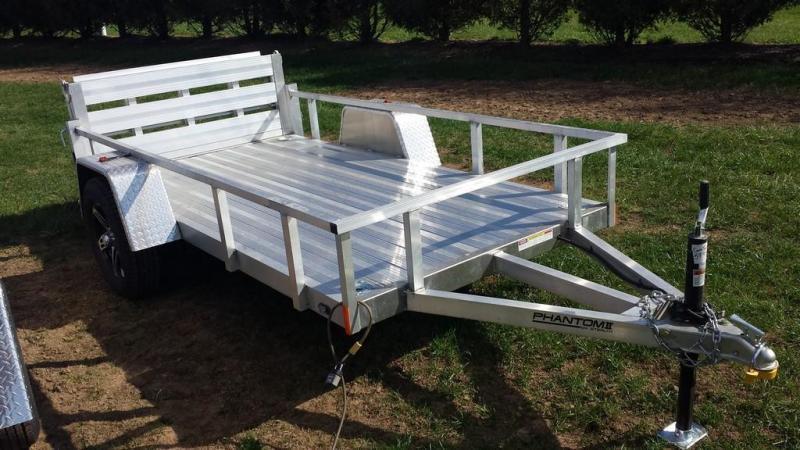 2020 Stealth Trailers 5x10 Alum Open Deck Rail Utility Trailer