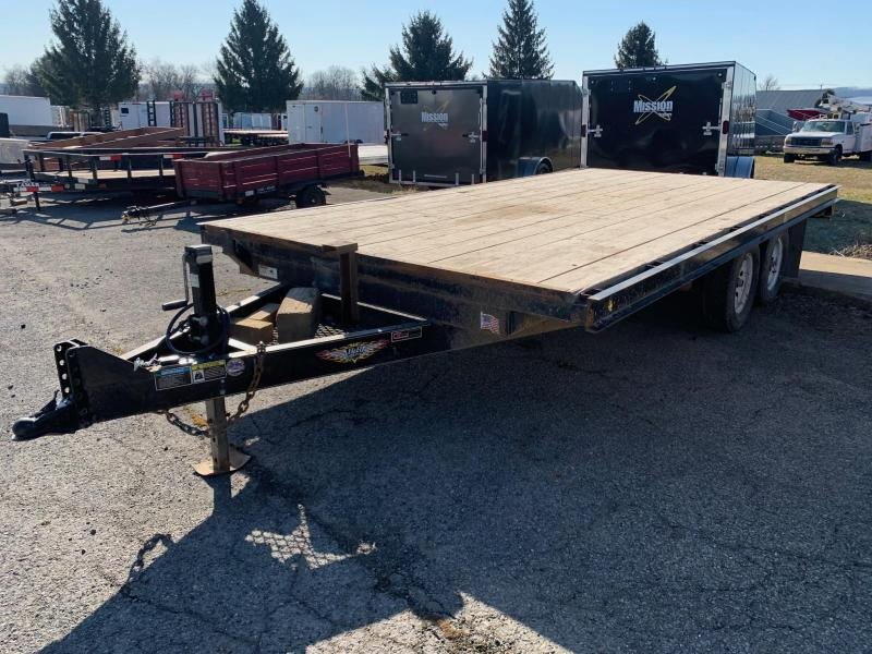 2016 H and H Trailer 16' 7K Deckover Flatbed Trailer