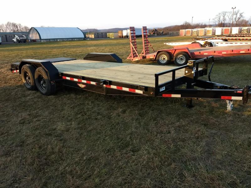 2019 H and H Trailer 7x16+4 Super Deluxe Equipment Trailer