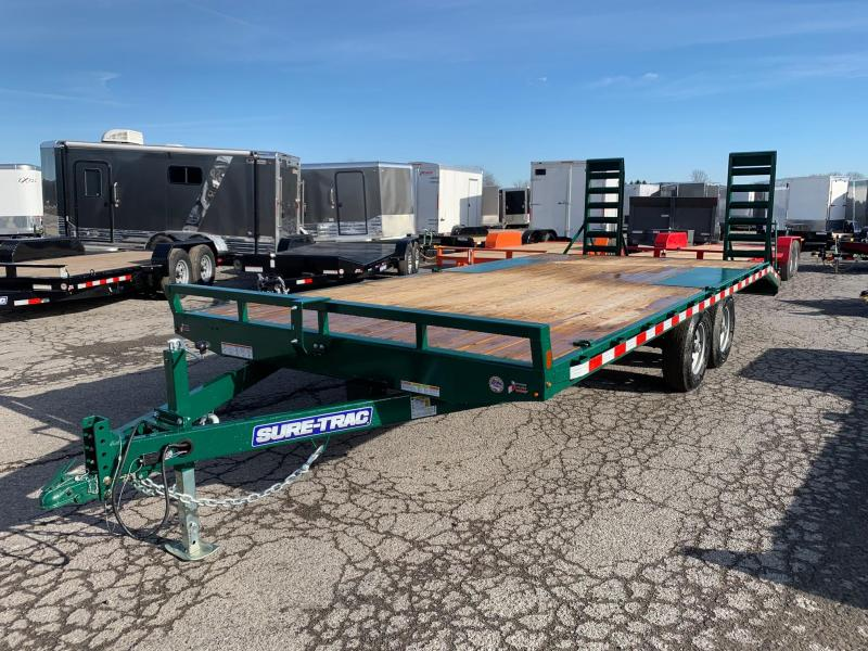 2020 Sure-Trac 8.5x17 Plus 3 Beavertail Deckover Flatbed Trailer