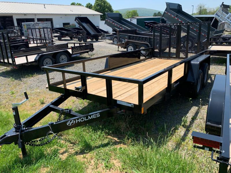 2020 Holmes 6-10x16 7k Commercial Open Side Rail Utility Trailer