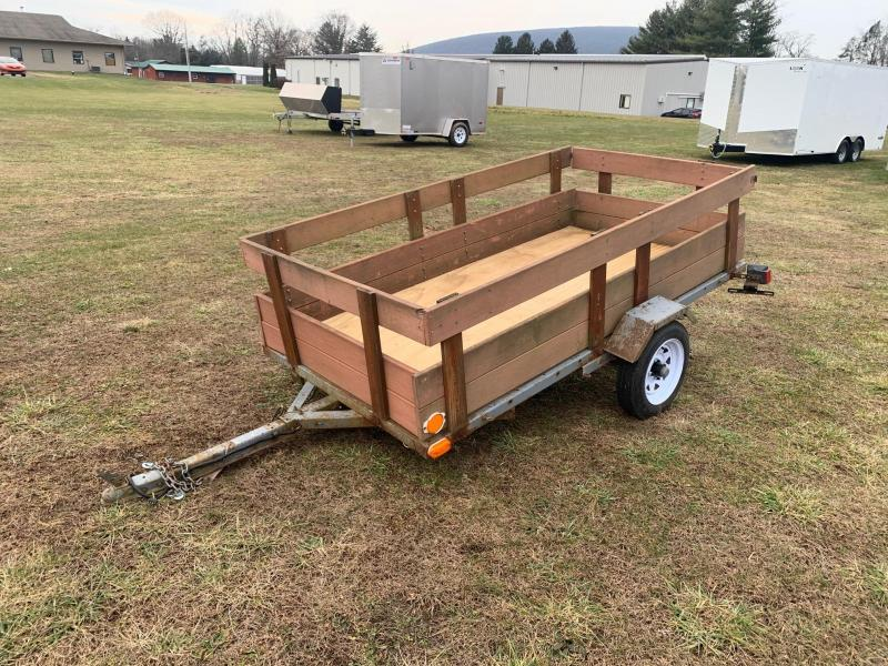 1995 Nu-Wa Industries 4x8 w/Wood Side Utility Trailer