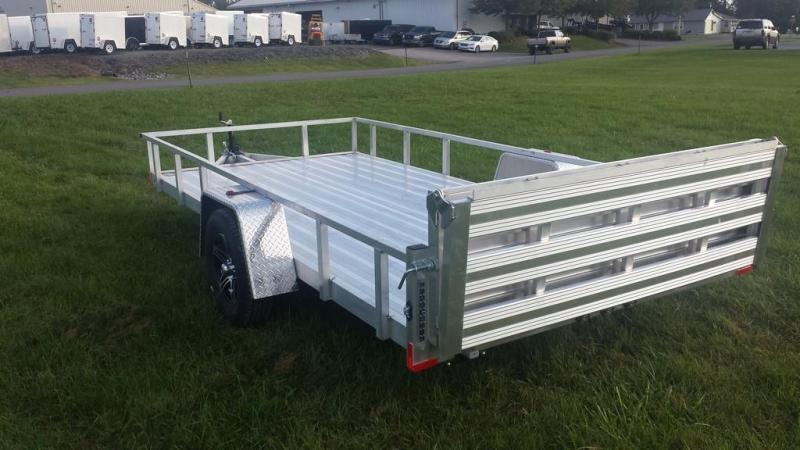 2020 Stealth Trailers 6-5x14 Alum Open Deck Rail Utility Trailer