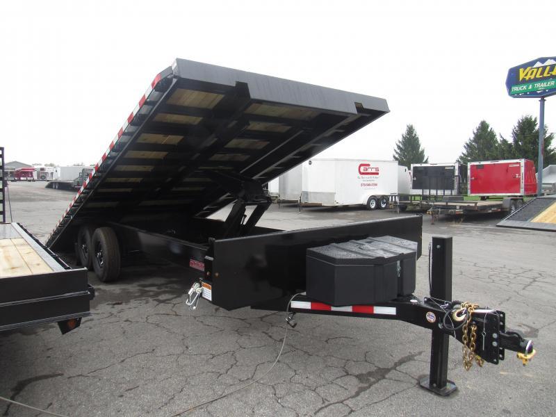 2020 Midsota 22 Deckover Power Tilt Equipment Trailer