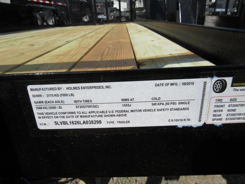 2020 Holmes 6'10x16 Comm 7K Utility Trailer