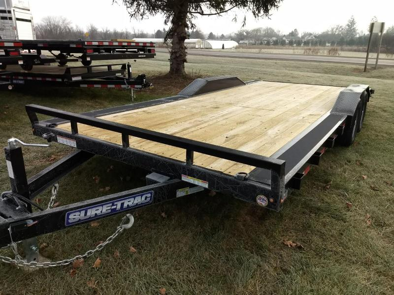 2019 Sure-Trac 102x20 10K Full Width Wood deck Car Trailer