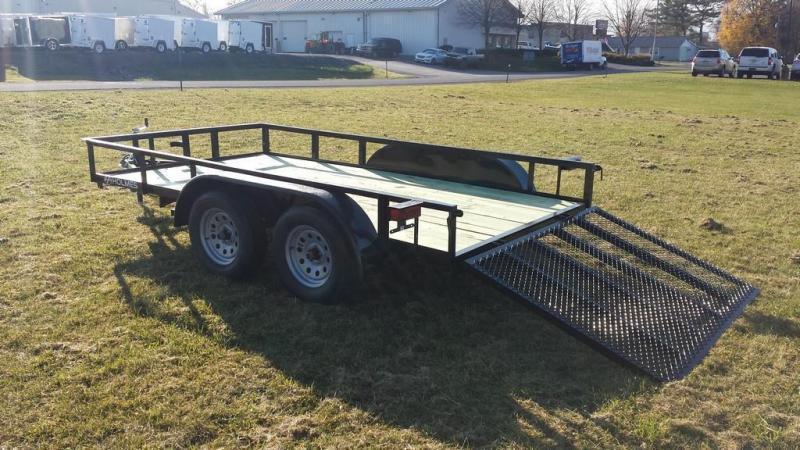 2019 Holmes 6-4x12 Open Side Rail 7k Utility Trailer