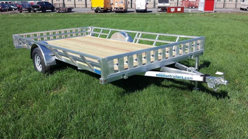 2019 Mission 83x14 Aluminum 3 Place ATV Trailer