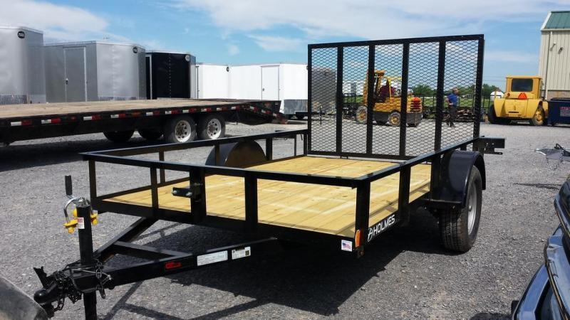 2020 Holmes 6-4x10 Open Side Rail Utility Trailer