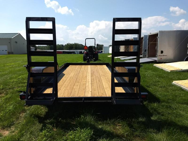 2019 Sure-Trac 7x14 14K Skid Steer Equipment Trailer