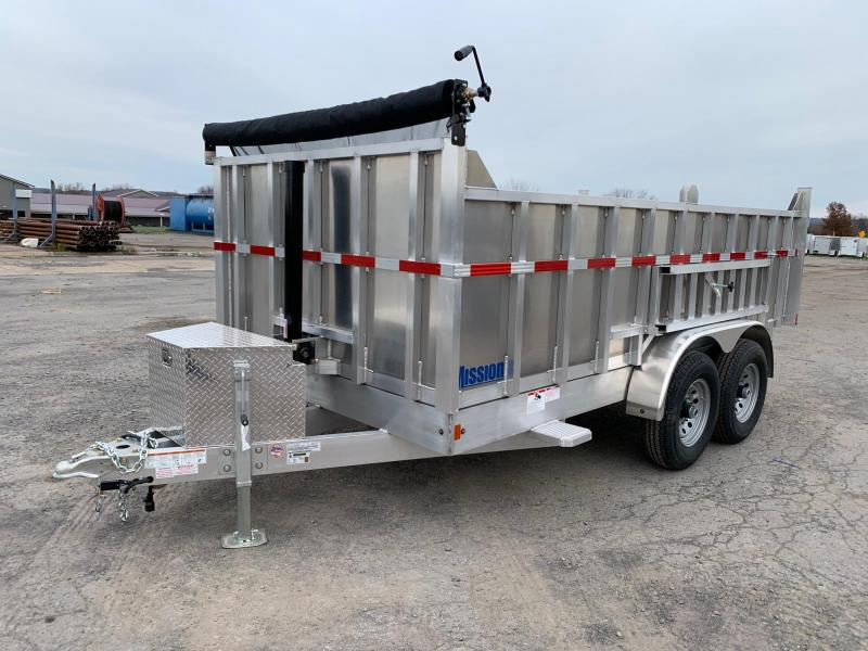 2020 Mission 7x14 14K All-Alluminum Dump Trailer
