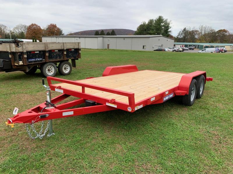 2020 Sure-Trac 16ft 7K Wood Deck Car / Racing Trailer