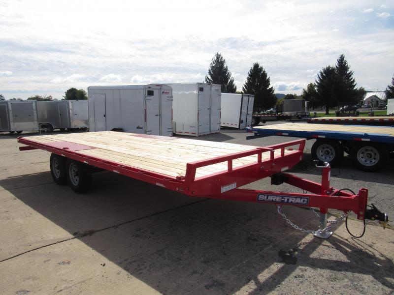 2020 Sure-Trac 8.5X 20 10K Deckover Flatbed Trailer