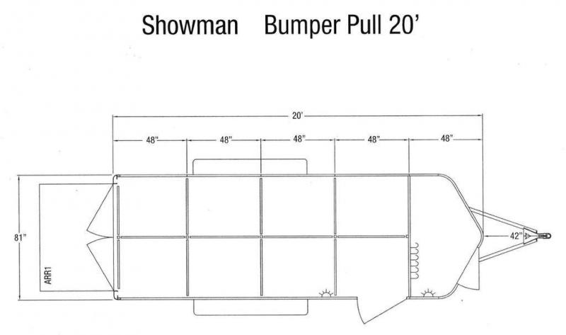 2019 Sundowner Showman Low Pro 20' Pen Trailer