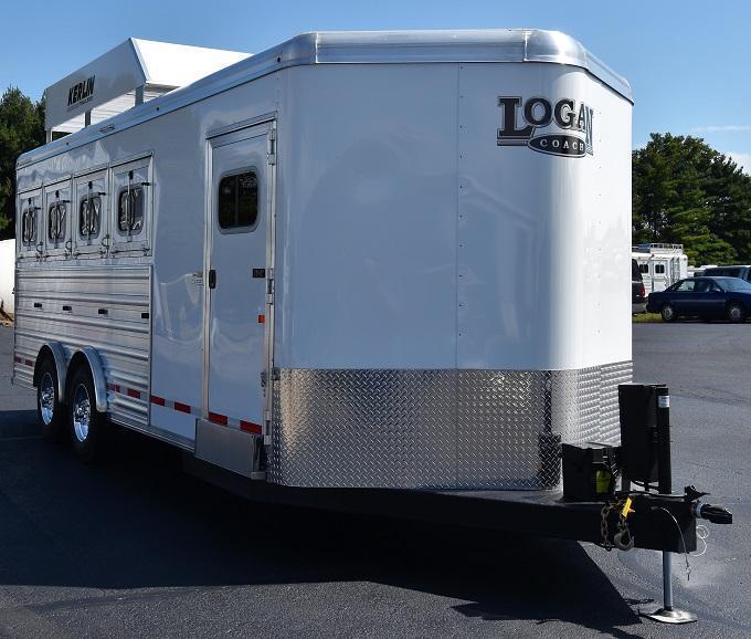 2020 Logan Coach Riot 4-Horse Bumper Pull Horse Trailer