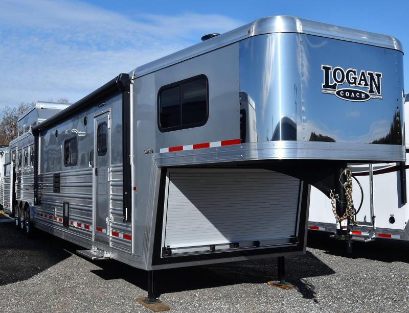2020 Logan Coach 817 Select Side Load Full Rear Tack Horse Trailer