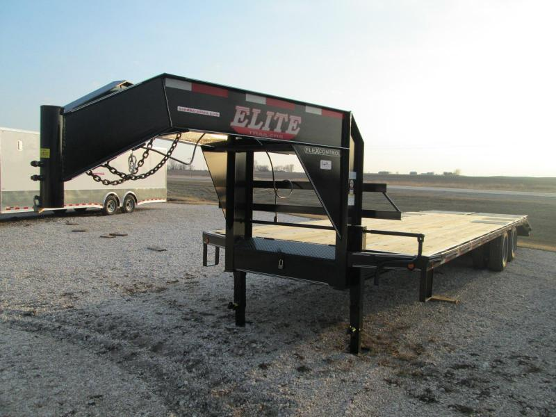 2020 Elite Trailers Elite 30 TD GN Flatbed Equipment Trailer