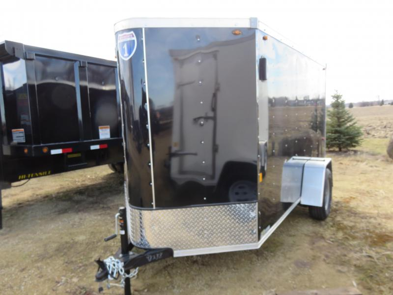 2019 Interstate 5x10 Enclosed Cargo Trailer-black with ramp