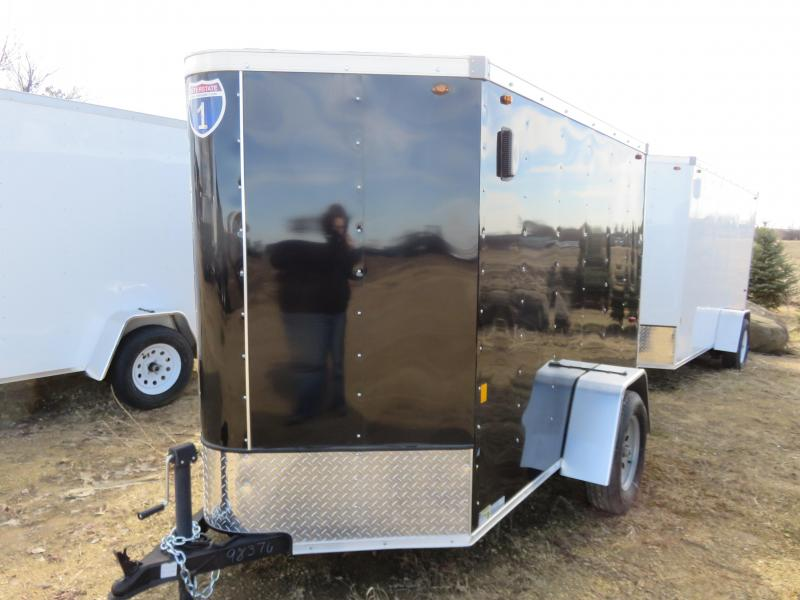 2019 Interstate 5x8 Enclosed Cargo Trailer-Black with Ramp