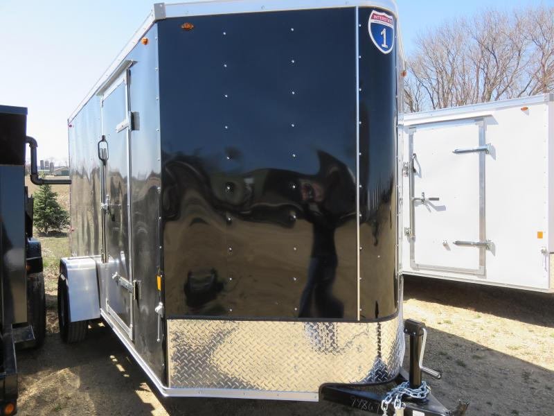 2019 Interstate 6x12 Enclosed Cargo Trailer-Black with Ramp