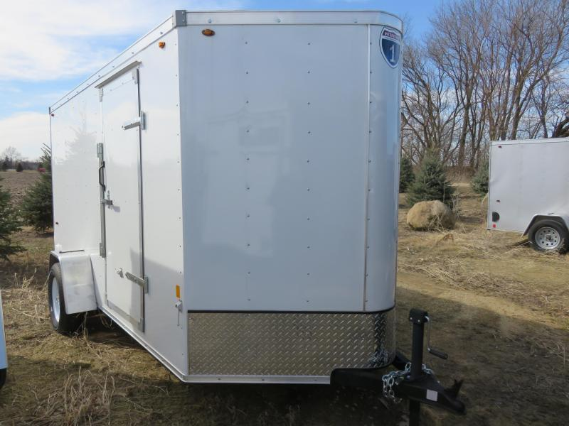 2019 Interstate 6x12 Enclosed Cargo Trailer-White with Ramp