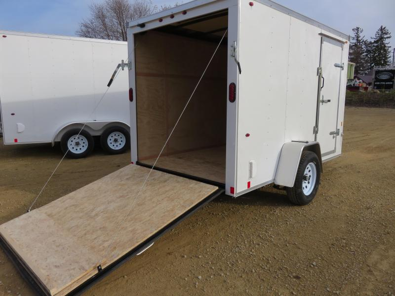 2019 Interstate 6x10 Enclosed Cargo Trailer-White with Ramp