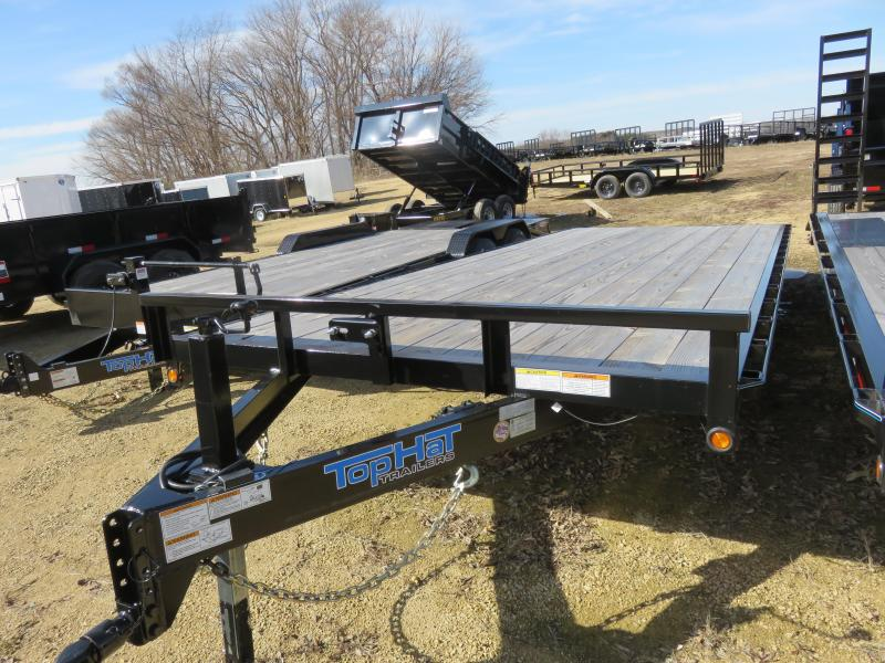 2019 Top Hat Trailers MDO 20x96 E7 Equipment Trailer