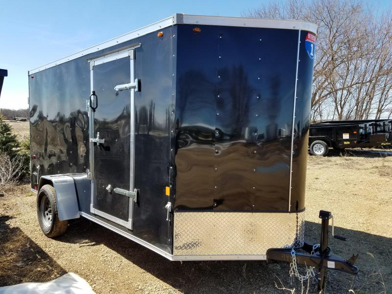 2019 Interstate 6x12 Enclosed Cargo Trailer-Black with Barn Doors