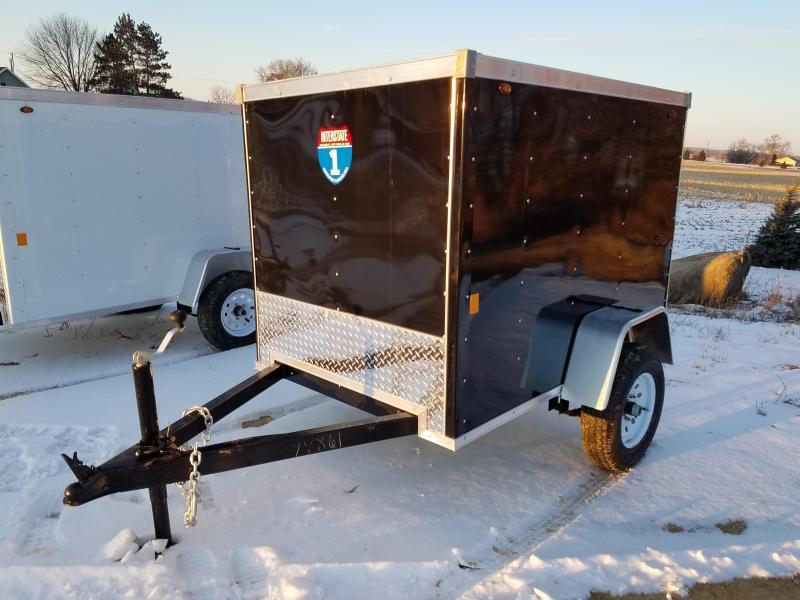 2019 Interstate 4x6 Enclosed Cargo Trailer-Black