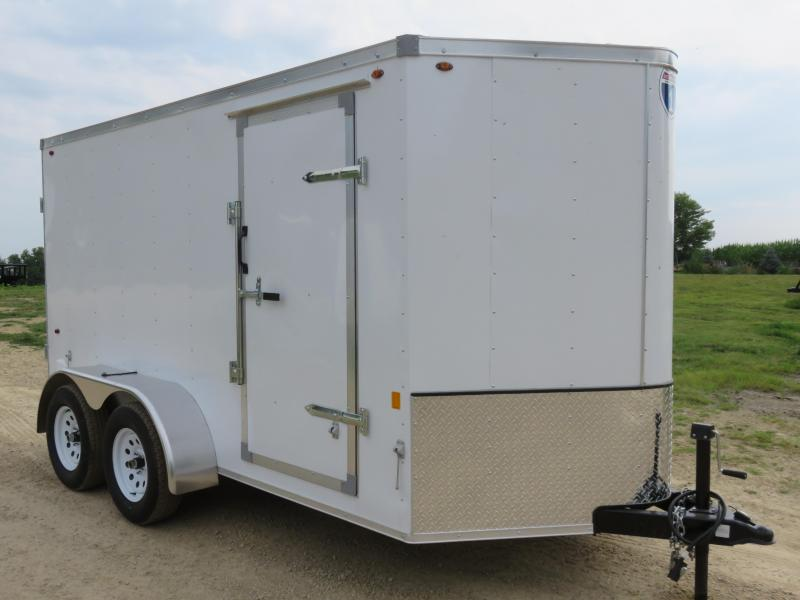 2019 Interstate 6x12 Tandem Enclosed Cargo Trailer-White with Barn Doors