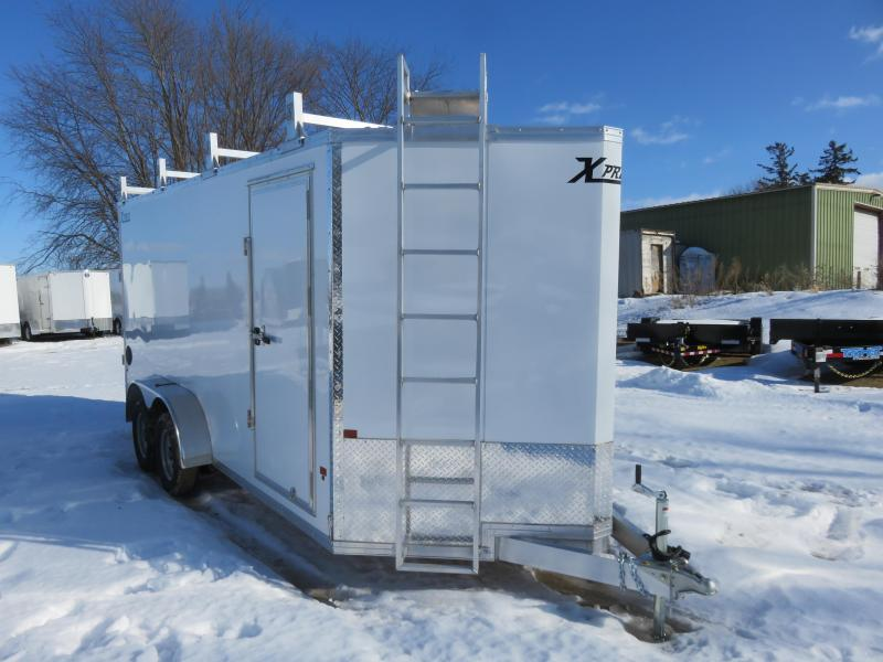 2020 Express Trailer 7X16 Enclosed Cargo Trailer with Contractor Package