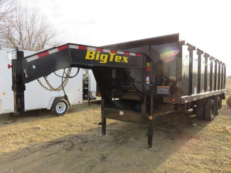 2020 Big Tex Trailers 25K 20ft Gooseneck Dump Trailer