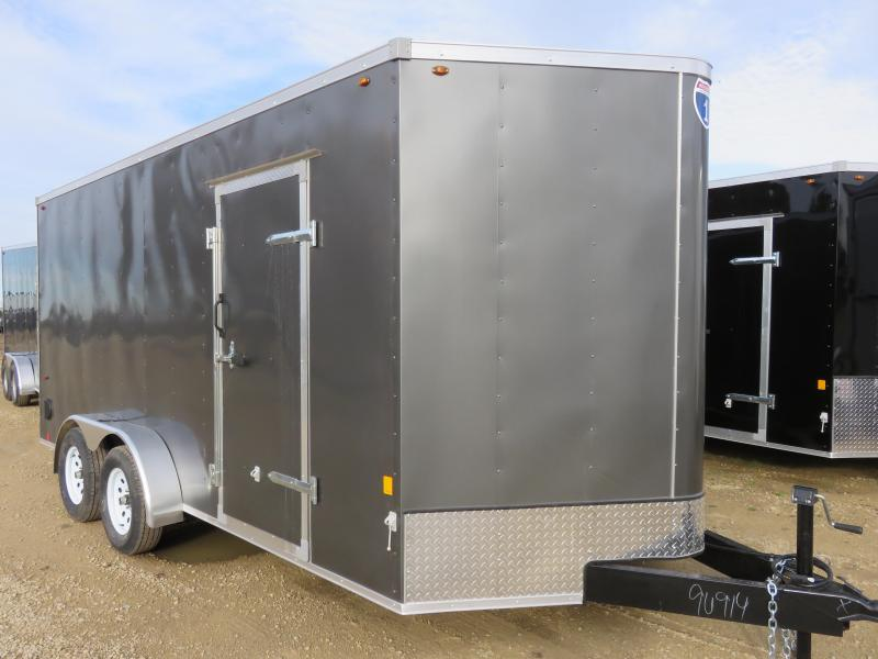 2019 Interstate 7x16 Enclosed Cargo Trailer-Charcoal with Ramp