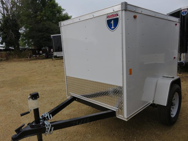 2019 Interstate 4x6 Enclosed Cargo Trailer-White