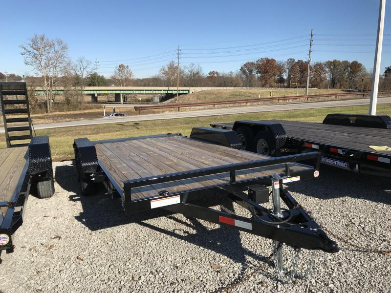 2020 Sure-Trac 7 X 16 Wood Deck Car Hauler  Flat Deck