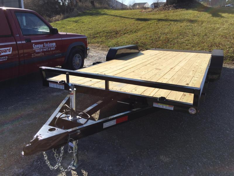 2020 Sure-Trac 7 X 18 Wood Deck Car Hauler  Flat Deck