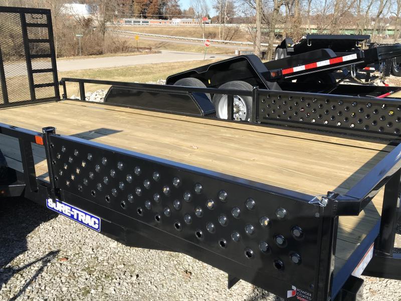 2020 Sure-Trac 7 X 16 Tube Top ATV  7K Tandem
