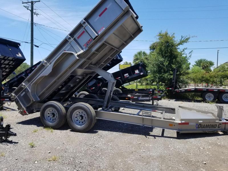 "Diamond C Trailers LPD 82""x14' &GA Dump Trailer landscape hauling"