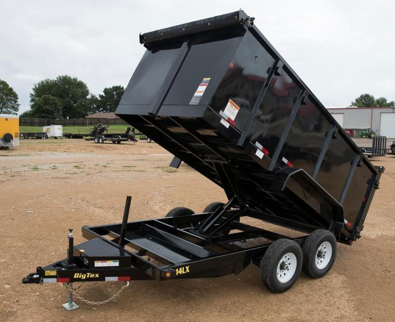 Big Tex 14LX 83 x 14 Dump Trailer  with 4' Sides with Ramps
