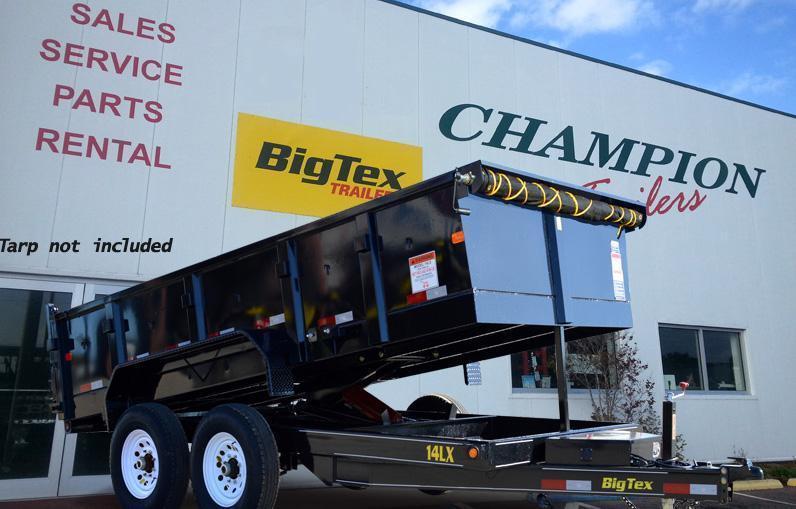 Big Tex Trailers 14LX-14BK-HJ Dump Trailer with Ramps w/Tarp