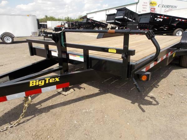 Big Tex 14ET -18Ft TA Equipment 7k Axles 18' TANDEM AXLE EQUIPMENT TRAILER W/ MEGA RAMPS