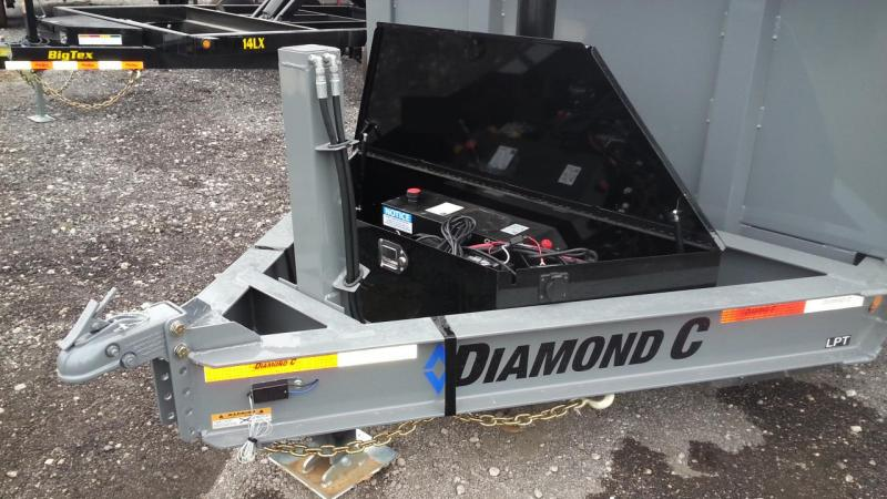 Diamond C LPT TELESCOPIC Low Profile Dump 4' sides Hydraulic Jack 10k