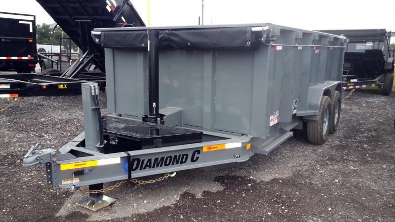 Diamond C LPT TELESCOPIC Low Profile Dump 4' sides Hydraulic Jack 10k