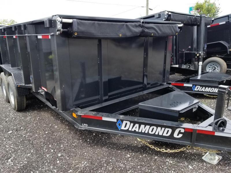 """Diamond C Trailers LPD 82""""x14 44"""" Sides Dump Trailer Lanscape  Hualing"""