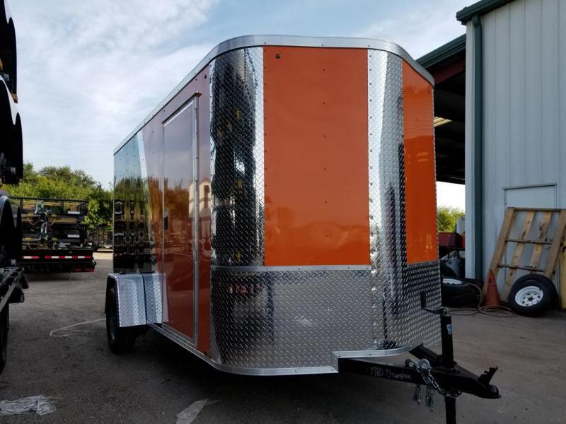 Arising Black and Orange Enclosed Trailer Motor Cycle
